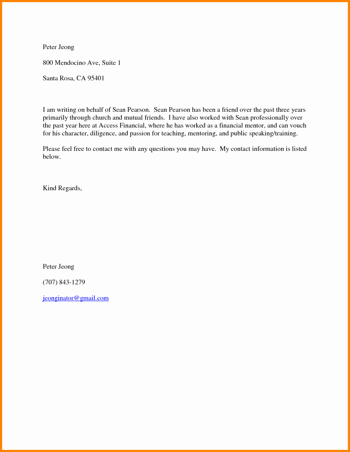 Texas Tech Letter Of Recommendation Luxury Personal Reference Sample Letter for A Friend