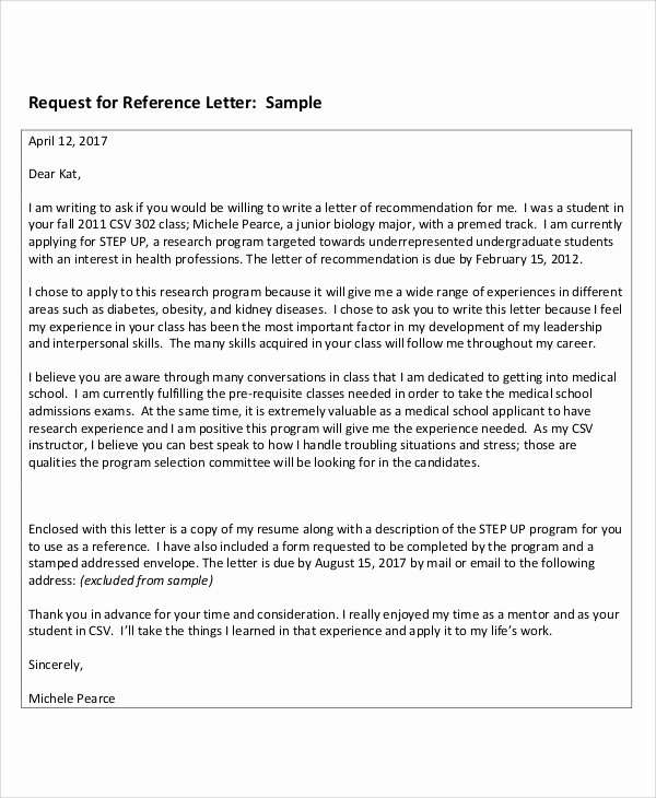 reference thank you letter sample