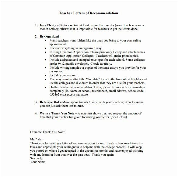 Thank You Letter for Recommendation Unique 8 Thank You Letter for Re Mendation Pdf Doc