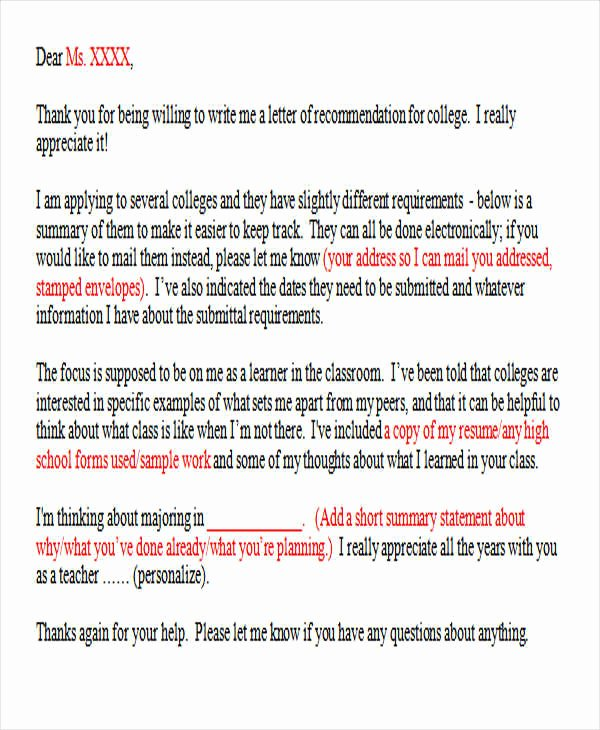 Thank You Letter Recommendation Awesome 37 Thank You Letter In Word Templates