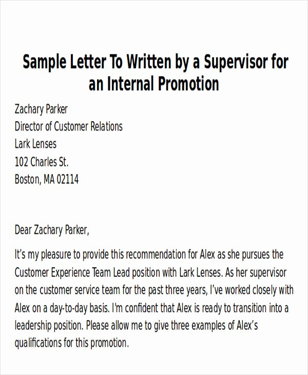 Thank You Letter Recommendation Fresh Sample Thank You Letter for Promotion 5 Examples In