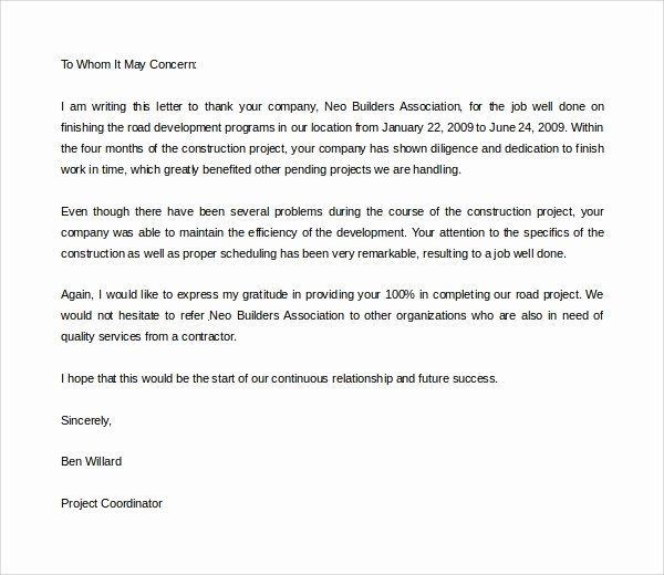 Thank You Letter Recommendation New 17 Thank You Letter Templates