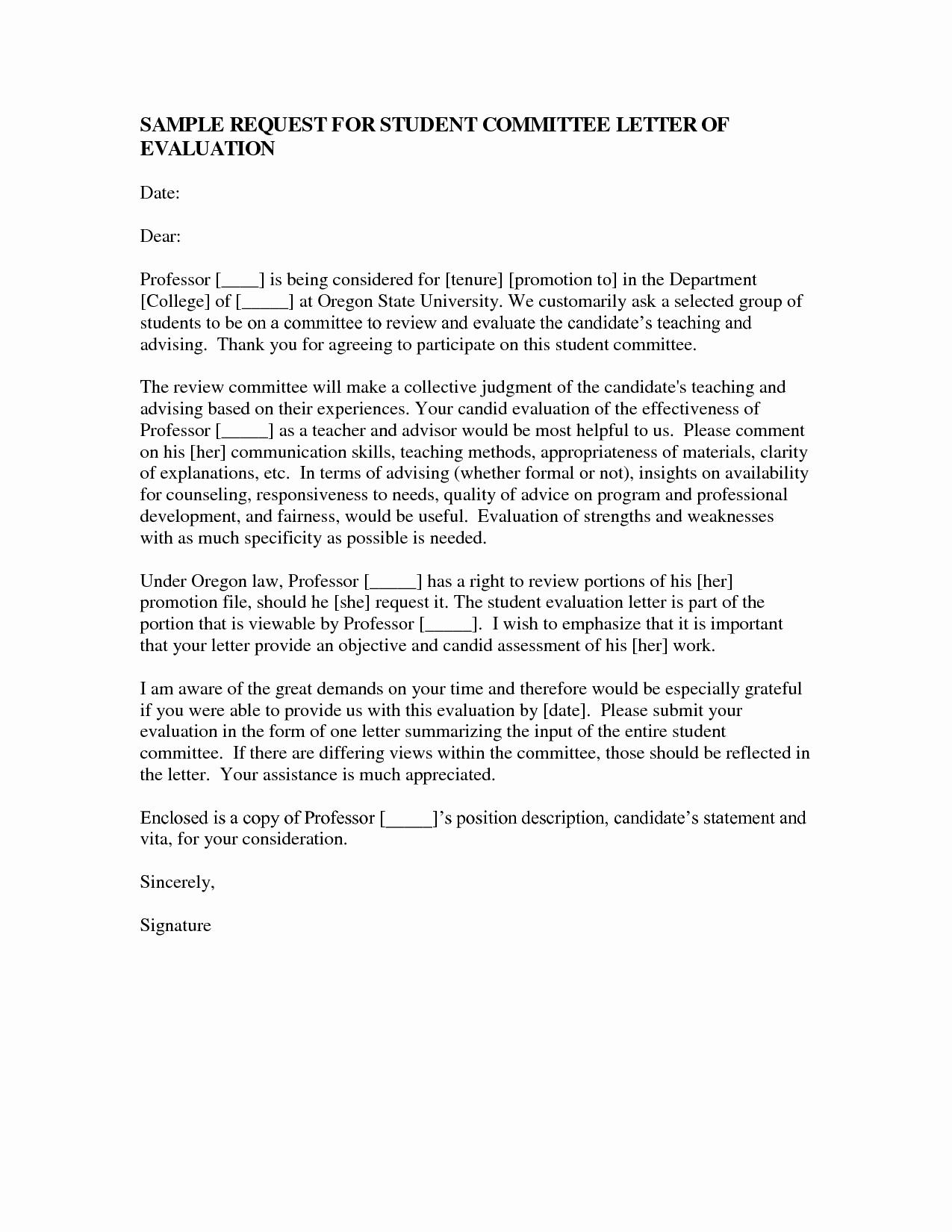 Thanking Professor for Recommendation Letter New Promotion Re Mendation Letter Sample Ideasplataforma