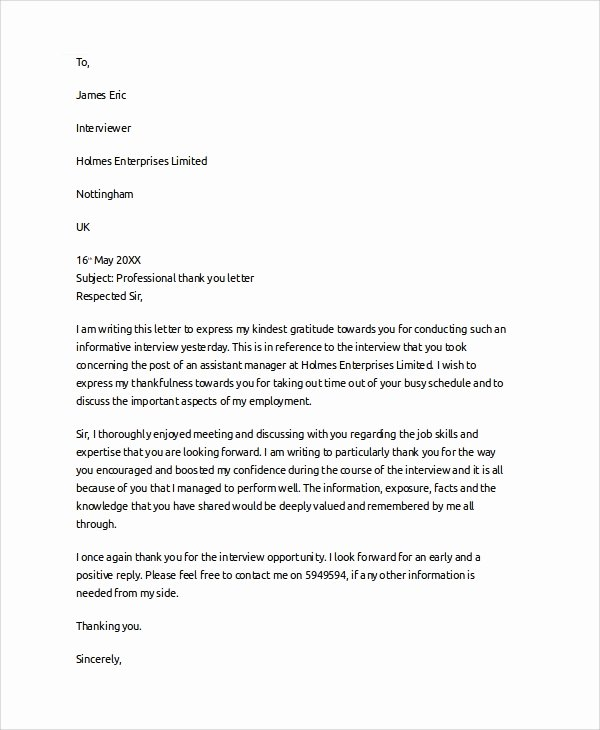 Thanks for Recommendation Letter Inspirational 7 Sample Professional Reference Letters