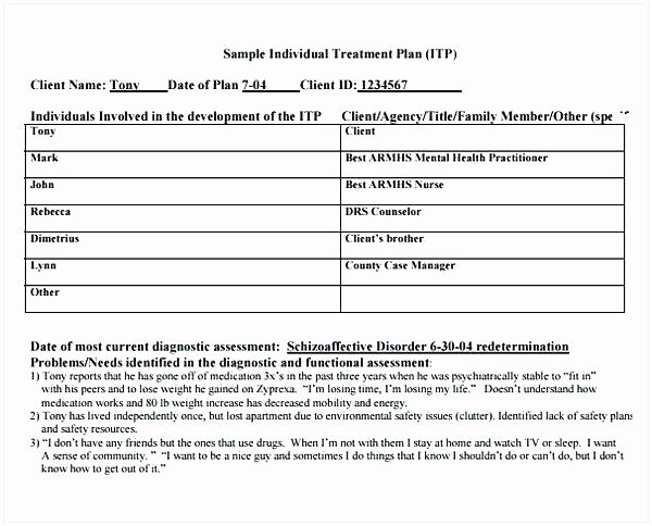 Therapy Treatment Plan Template Fresh Counseling Treatment Plan Template Pdf Unique Counseling
