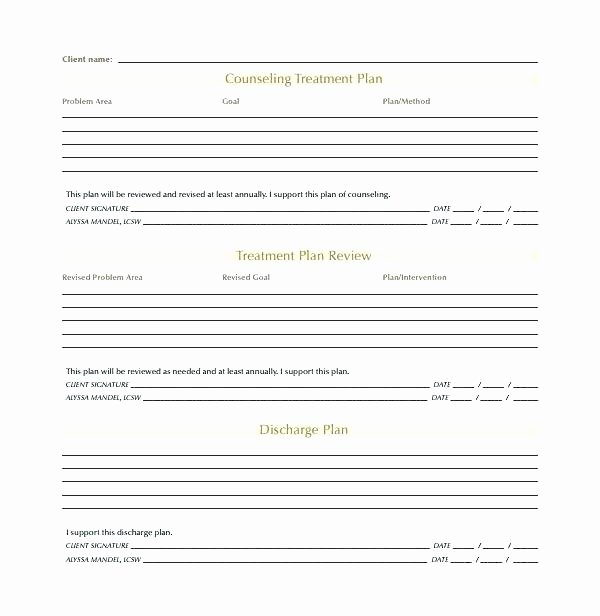 Therapy Treatment Plan Template New Counseling Treatment Plan Template Pdf Fresh Counseling