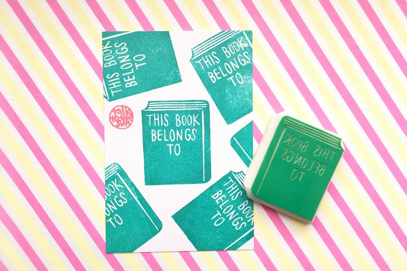 This Book Belongs to Template Best Of Custom Bookplate Rubber Stamp This Book Belongs to
