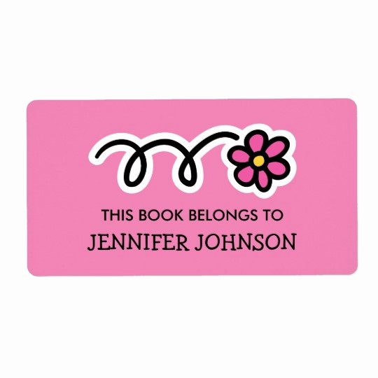 This Book Belongs to Template Best Of This Book Belongs to Pink Daisy Flower Book Labels