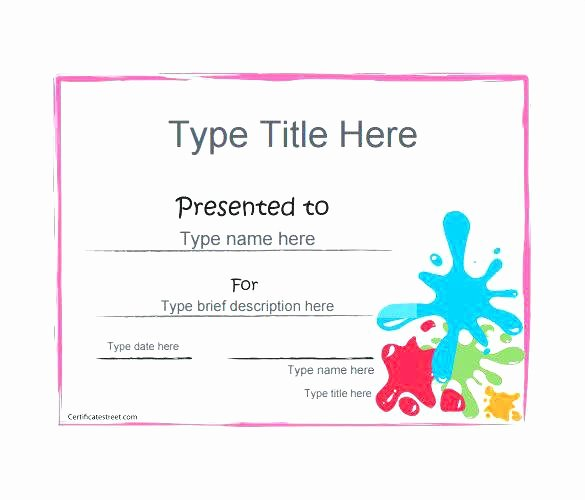 This Entitles the Bearer to Template Certificate New Cute Gift Certificate Template Free Awesome Blank