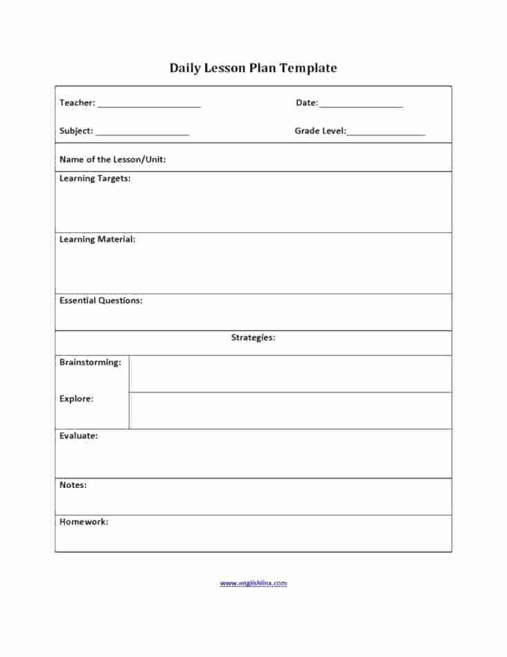 Tiered Lesson Plan Template Beautiful Science Unit Plan Template