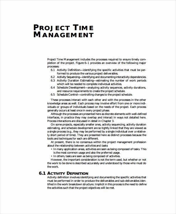 Time Management Plan Template Beautiful 15 Project Plan Templates