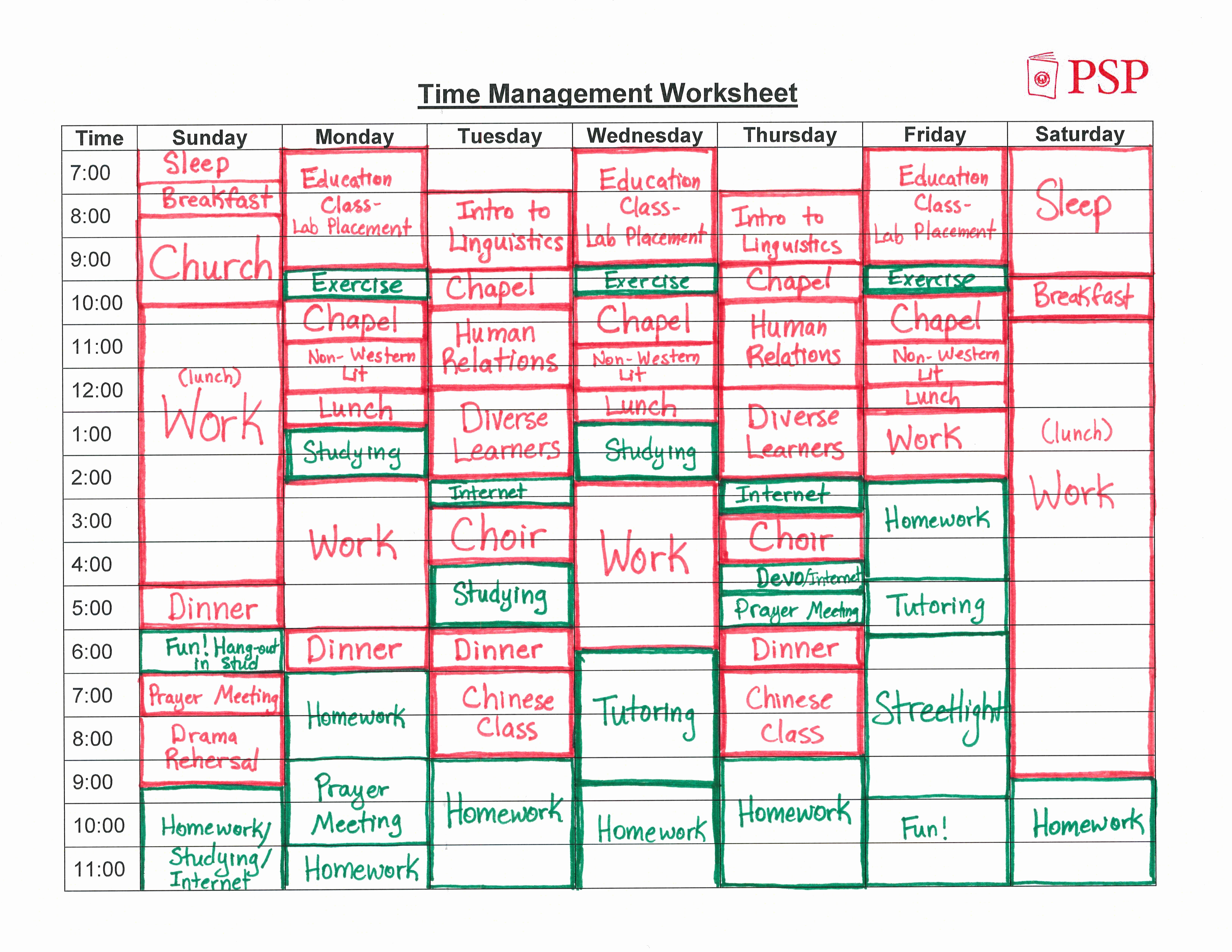 Time Management Plan Template Luxury Time Management