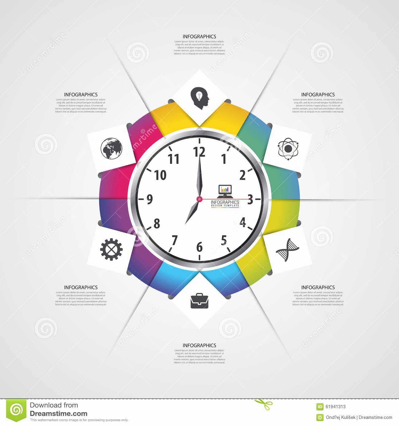Time Management Plan Template Unique Businessman Watch Head Vector Illustration Vector