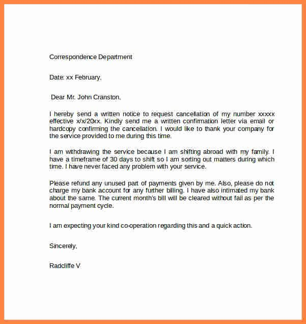 Timeshare Cancellation Letter Best Of 9 Cancellation Notices Examples