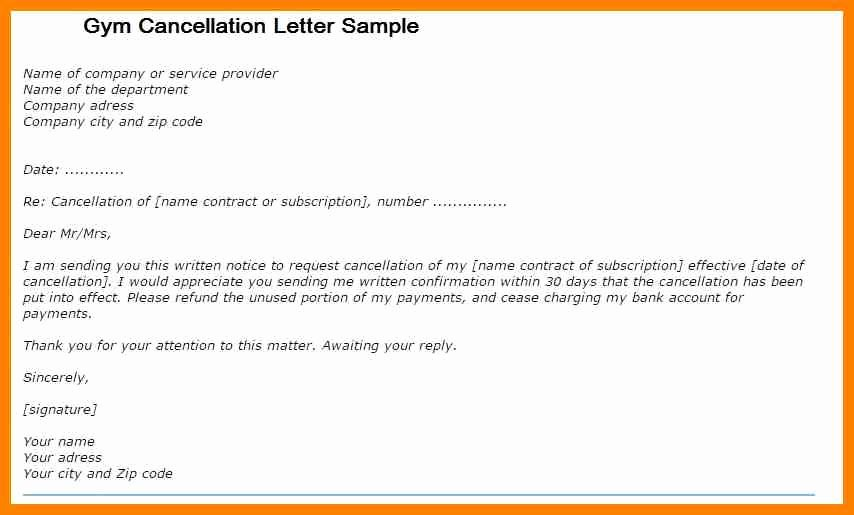 Timeshare Cancellation Letter Fresh Gym Membership Cancellation Letter Template Uk