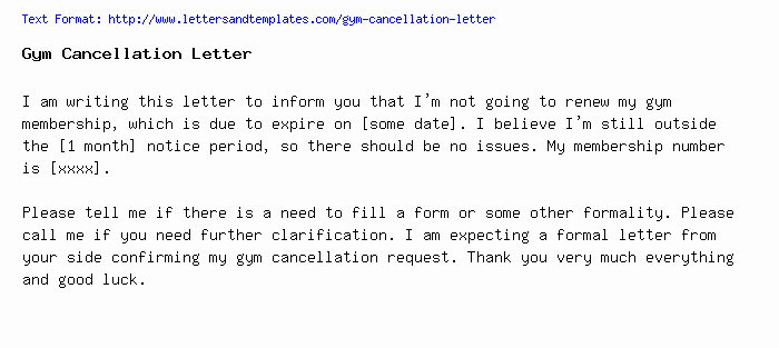 Timeshare Cancellation Letter Sample Luxury Sample Letter to Freeze Gym Membership