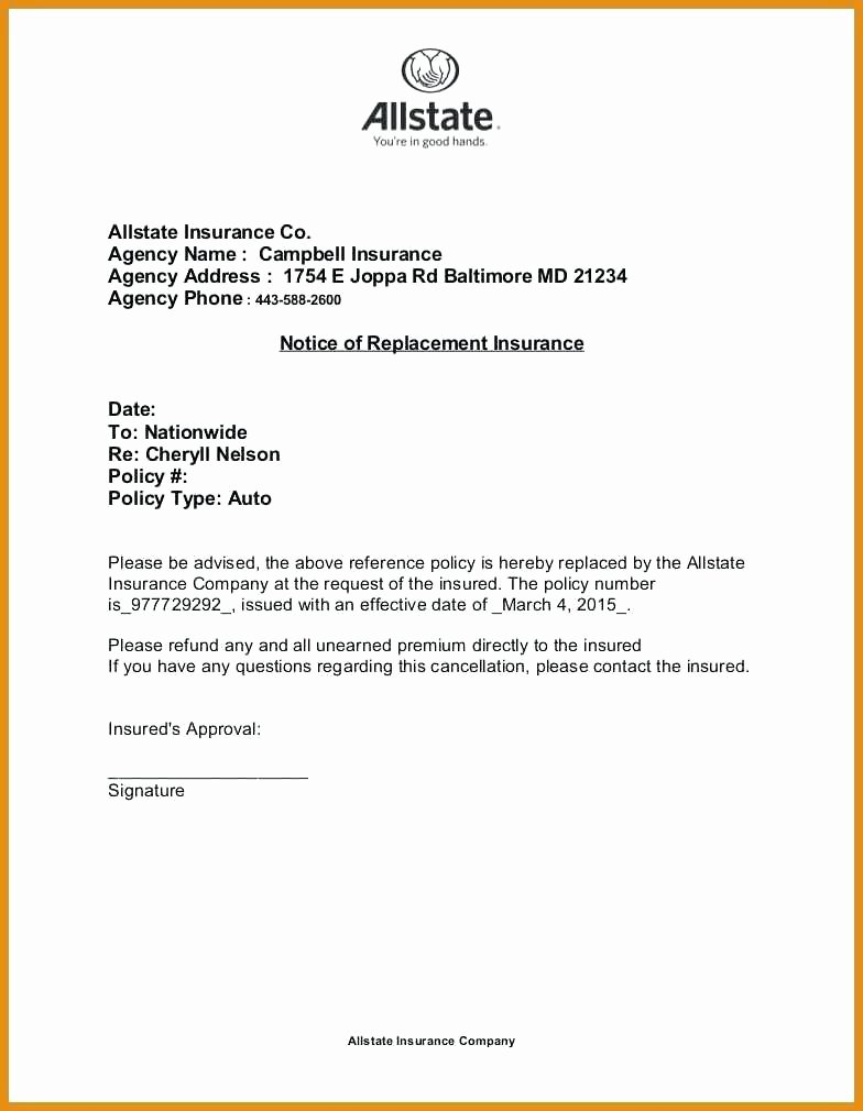 Timeshare Cancellation Letter Template Awesome Insurance Policy Cancellation Letter Template Sample