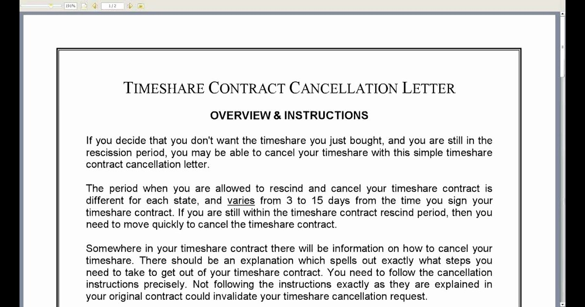 Timeshare Cancellation Letter Template Luxury Timeshare Cancellation Letter Sample