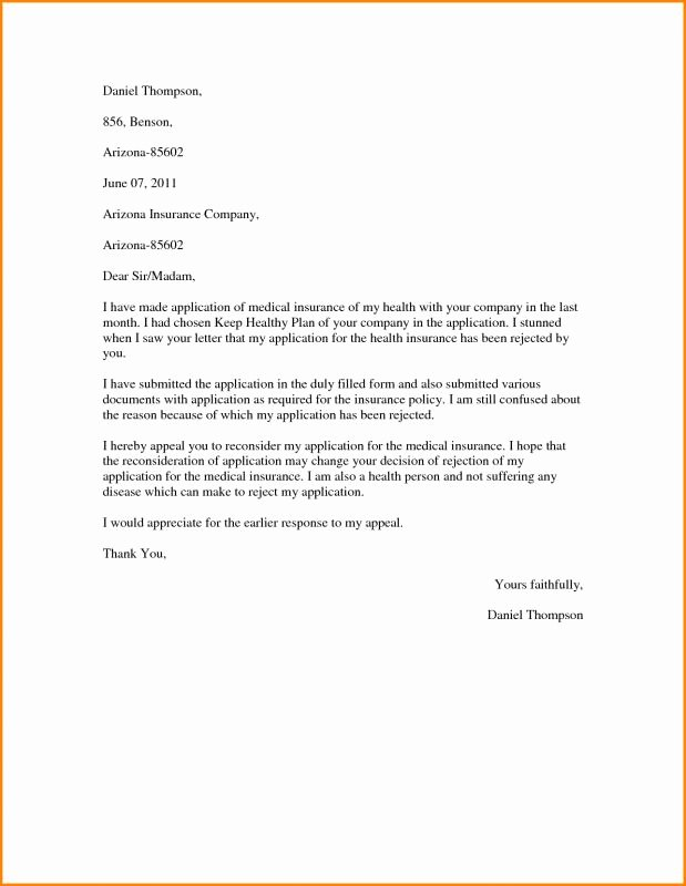 Timeshare Cancellation Letters Inspirational Insurance Appeal Letter