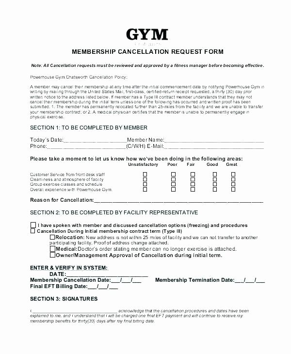 Timeshare Rescission Letter Inspirational Gym Cancellation Letter