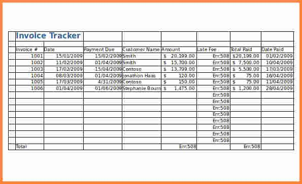 Track Invoices and Payments Excel Best Of 4 Invoice Tracking Spreadsheet