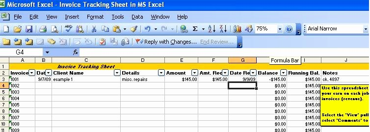 Track Invoices and Payments Excel Luxury Invoice Tracking Template Excel