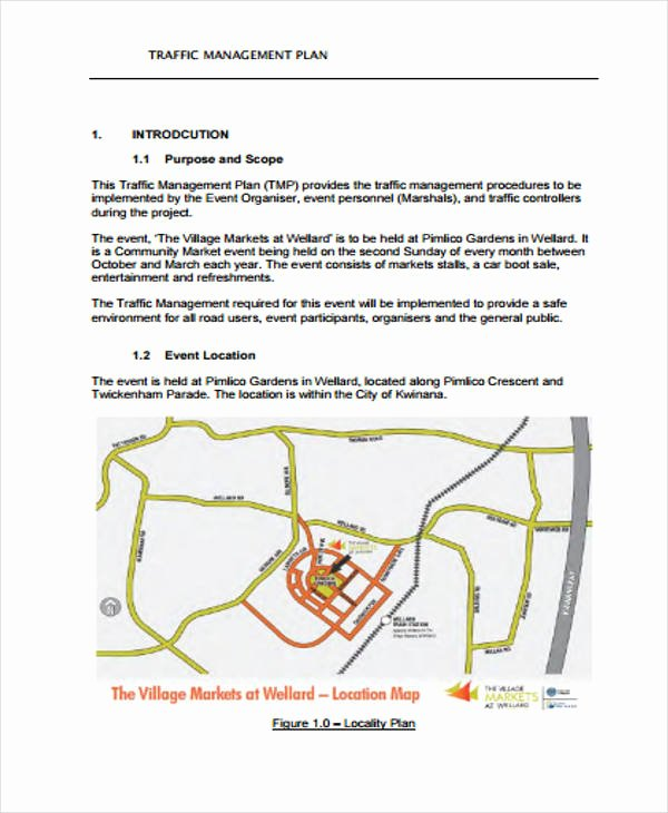 Traffic Control Plan Template Fresh 35 Management Plan Example