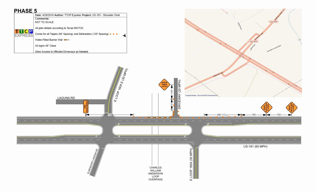 Traffic Control Plan Template New Temporary Traffic Control Plans Detours Lane Closures