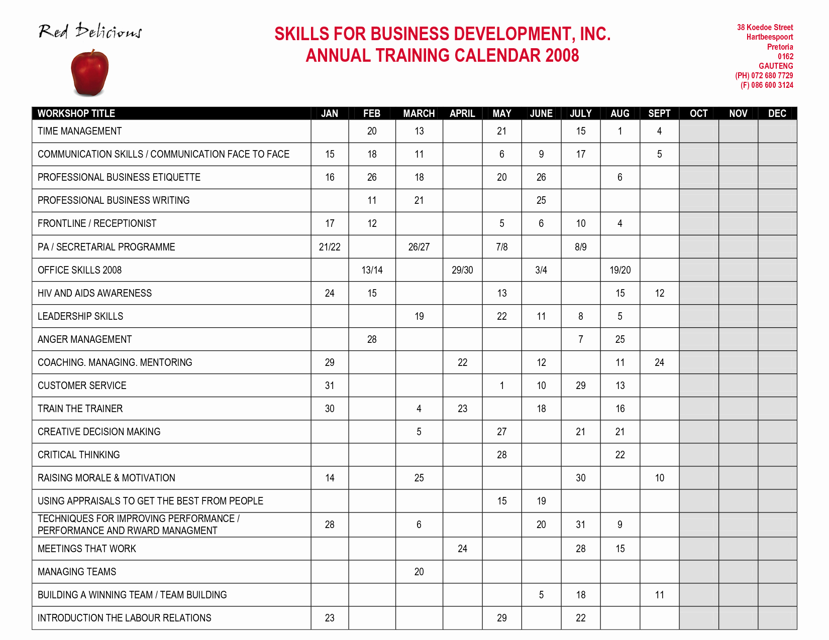 Training Plan Template Excel Awesome Best S Of Fire Department Training Schedule Template