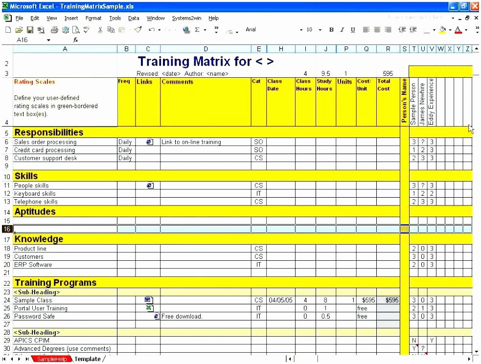 Training Plan Template Excel Best Of Employee Cross Training Template Free Templates for