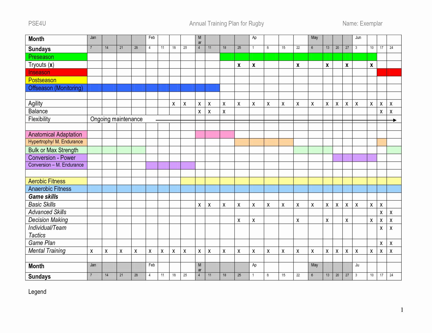 Training Plan Template Excel Elegant Plan Free Download Training Plan Template Training Plan