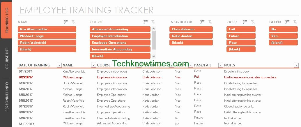 Training Plan Template Excel Inspirational Employee Training Tracker Template Excel