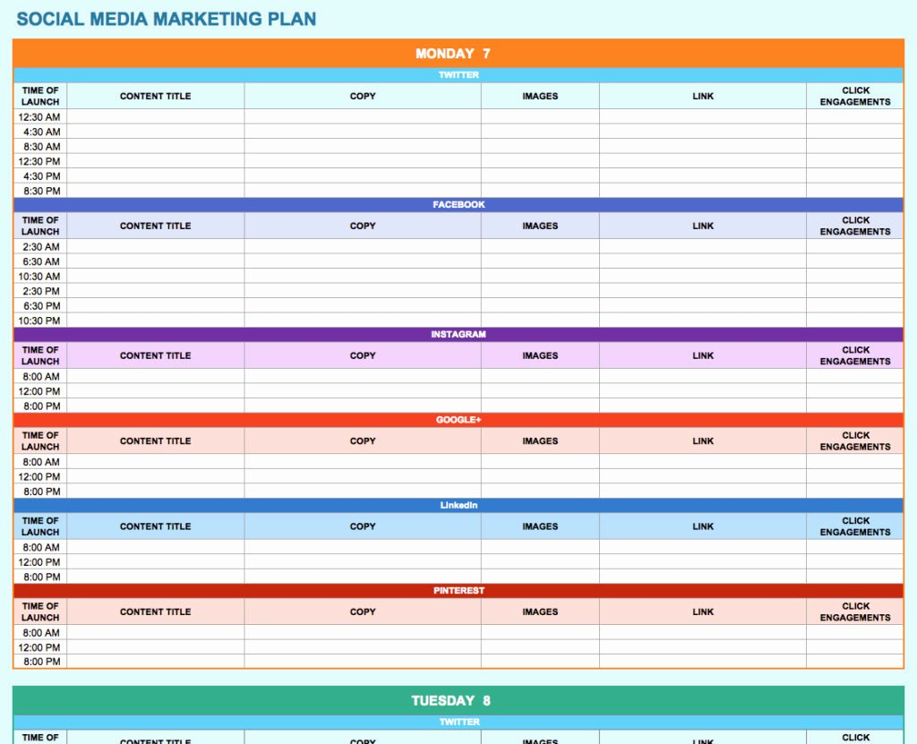 training plan template excel