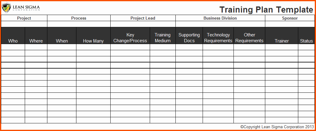 Training Plan Template Excel New 3 Training Plan Templatememo Templates Word
