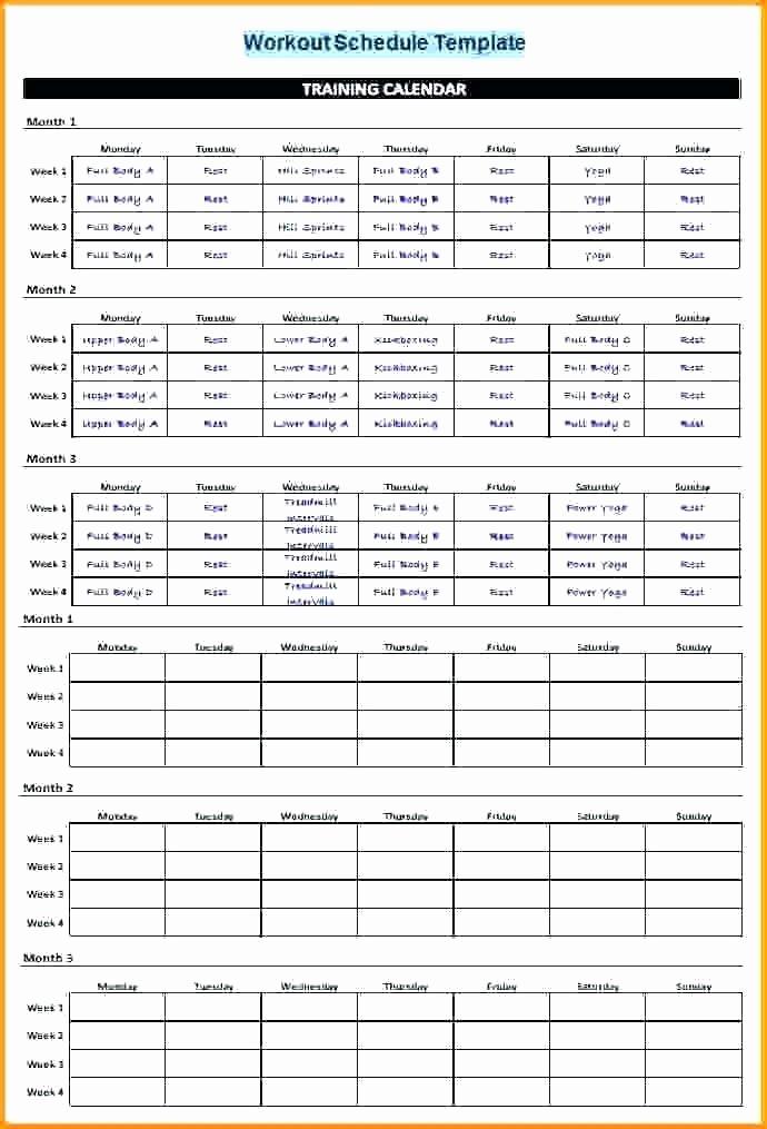 Training Plan Template Excel Unique Training Plan Template In Excel Kairo9terrainsco