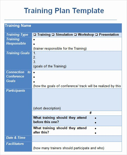 Training Plan Template Word Awesome 27 Plan Templates