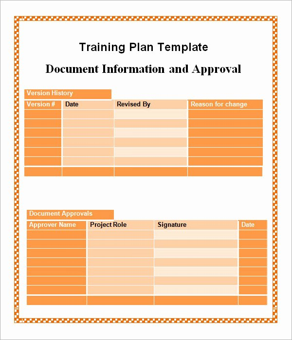 Training Plan Template Word Fresh Training Plan Template 20 Download Free Documents In