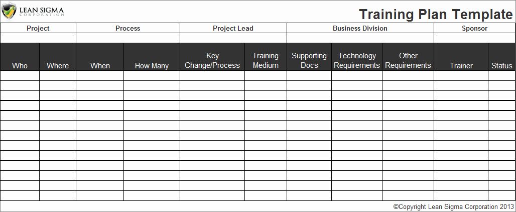 Training Plan Template Word Luxury Employee Training Plan Template