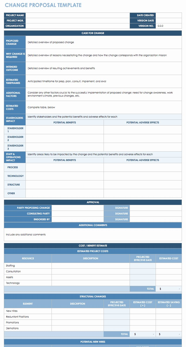 Transition Management Plan Template Beautiful Free Change Management Templates