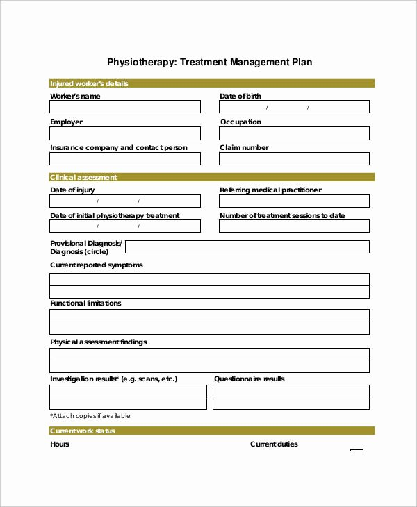 Treatment Plan Template for Counseling Best Of 23 Treatment Plan Examples Word Google Docs Apple