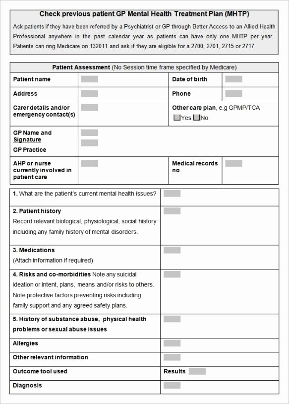 Treatment Plan Template Word Beautiful 38 Free Treatment Plan Templates In Word Excel Pdf