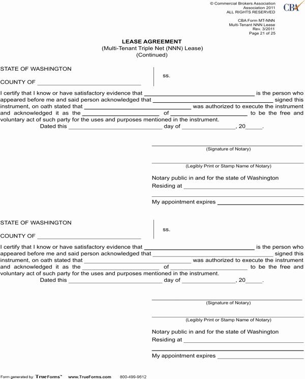 Triple Lease Agreement Elegant Download Washington Lease Agreement Multi Tenant Triple