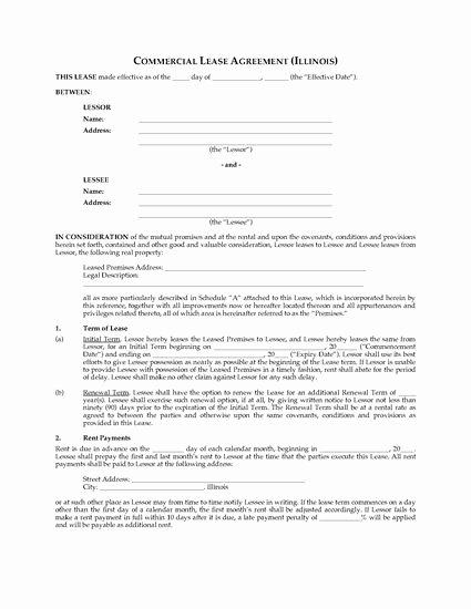 Triple Lease Agreement Elegant Illinois Mercial Triple Net Lease Agreement