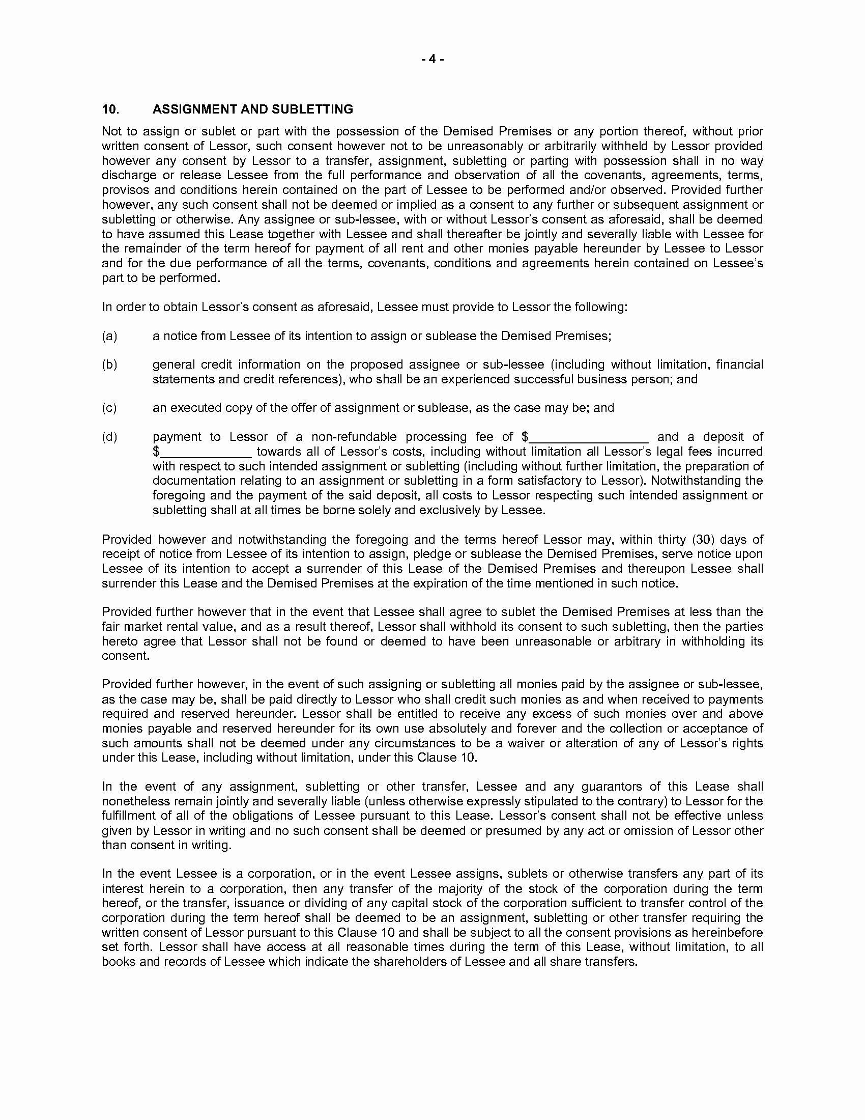 Triple Lease Agreement Lovely Nova Scotia Mercial Triple Net Lease Agreement