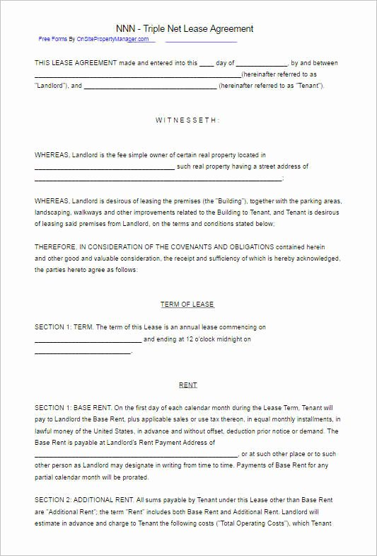 Triple Lease Agreement Luxury 282 Rental Lease Agreement Free Pdf Sample Word formats