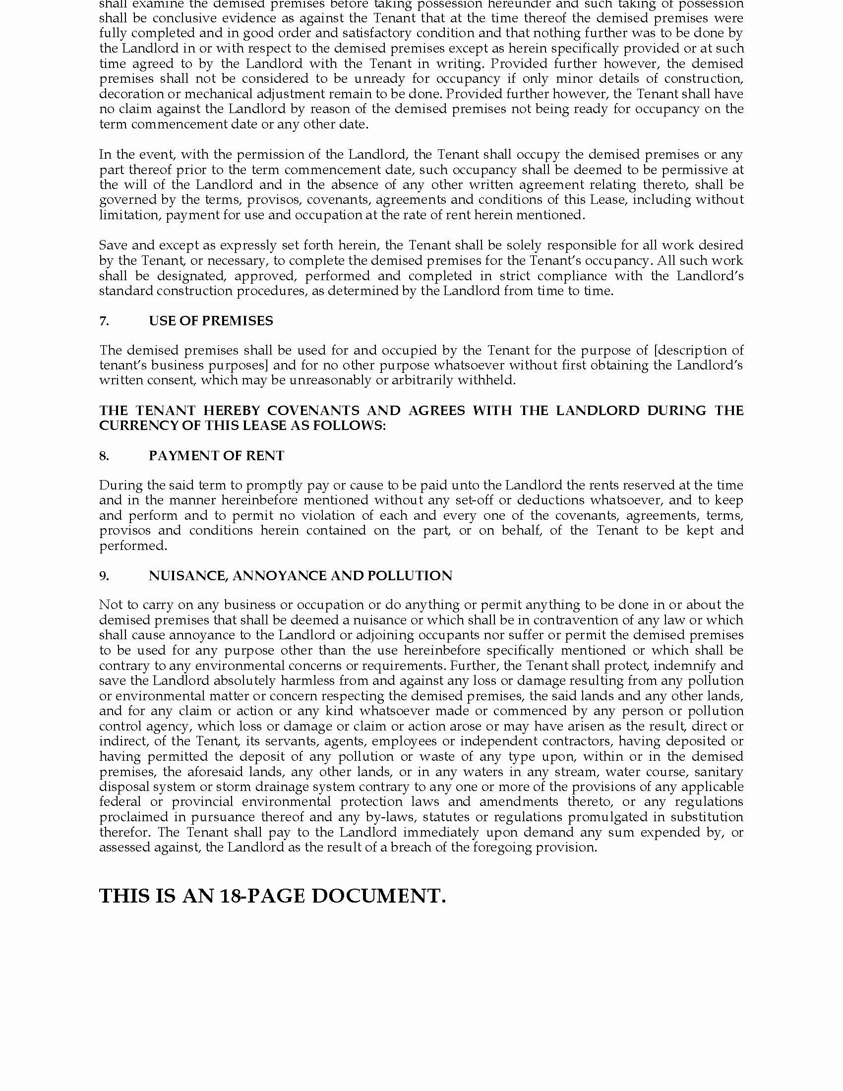 Triple Lease Agreement New British Columbia Mercial Triple Net Lease Agreement