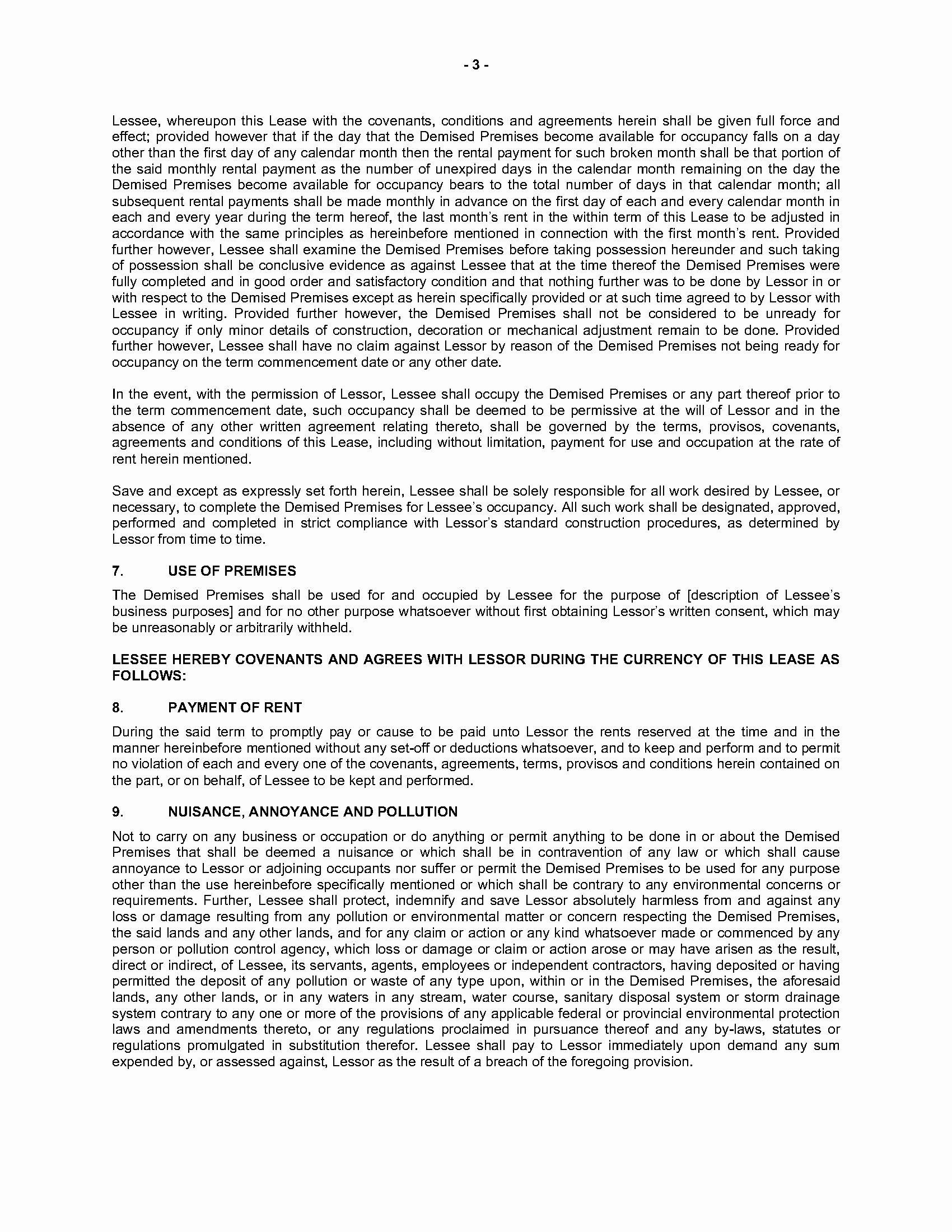 Triple Lease Agreement New Nova Scotia Mercial Triple Net Lease Agreement
