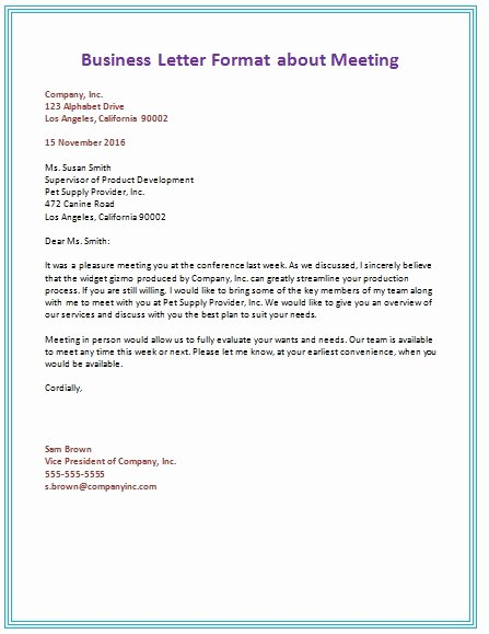 Types Of Letter format Beautiful How to Type A Business Letter format