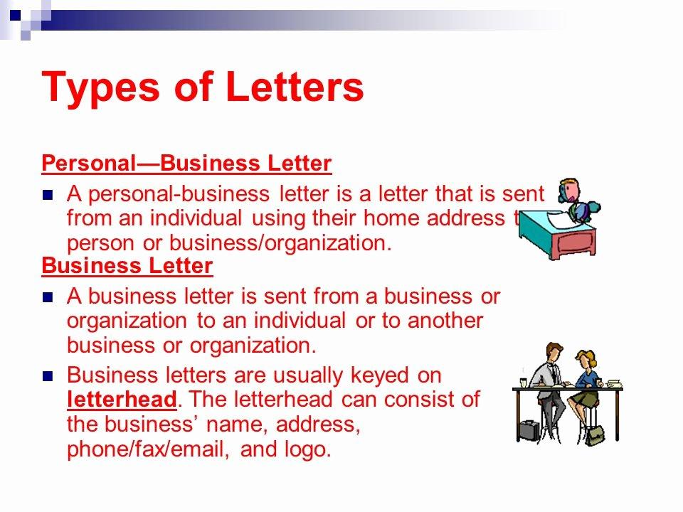 Types Of Letter format Elegant Apply Correct Letter formats Ppt
