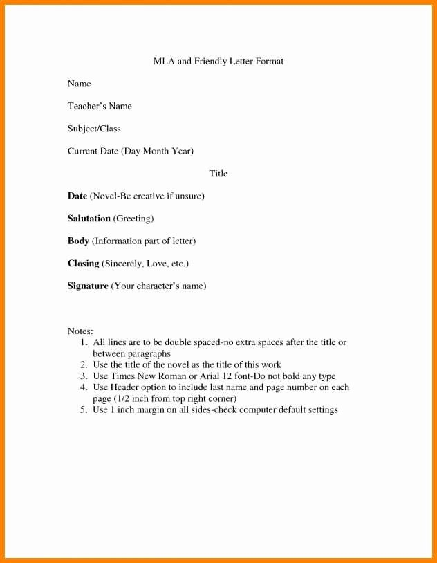 Types Of Letter format Luxury 9 Different Letter formats